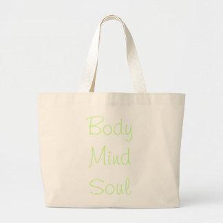 Body Mind Soul Large Tote Bag