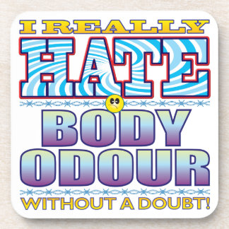 Body Odour Hate Face Coasters