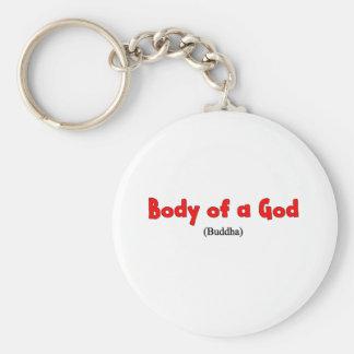 Body of a god Shirt Basic Round Button Keychain