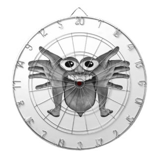 Body Part Monster Illustration Dartboard With Darts