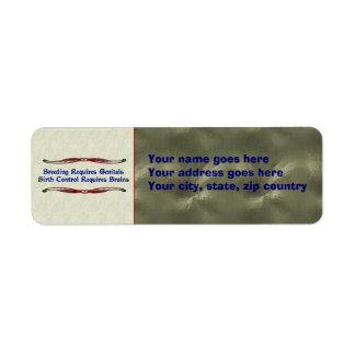 Body Parts Custom Return Address Labels
