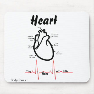 Body Parts -- Human Heart Mouse Pad