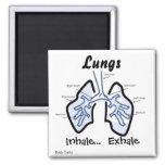 Body Parts -- Human Lungs Fridge Magnet