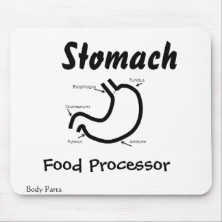 Body Parts -- Human Stomach Mouse Pad