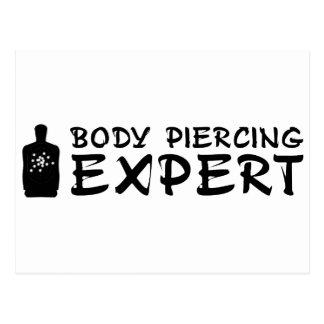 Body Piercing Expert Postcard