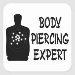 Body Piercing Expert Square Stickers