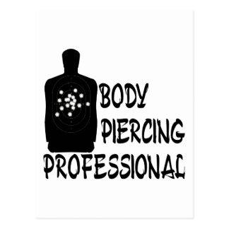 Body Piercing Professional Postcard