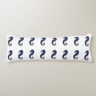 Body Pillow - Sea Horses (Navy Blue)