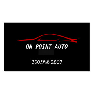 Body Shop and repair business card