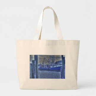 Body Surfer Catches a Wave Beach Ocean Sand Large Tote Bag