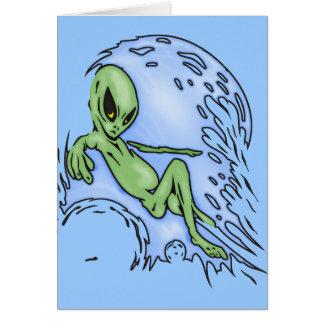 Body Surfing Alien Card