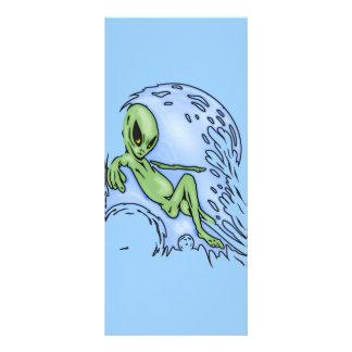 Body Surfing Alien Rack Card