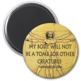 Body Tomb 2 Inch Round Magnet