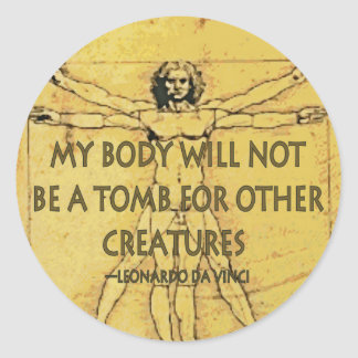 Body Tomb Round Sticker