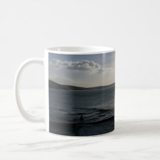 Bodyboarding Off to Catch The Last Wave Porthleven Classic White Coffee Mug