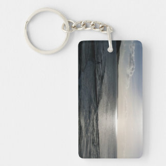 Bodyboarding Off to Catch The Last Wave Porthleven Single-Sided Rectangular Acrylic Keychain