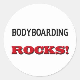 Bodyboarding Rocks Classic Round Sticker