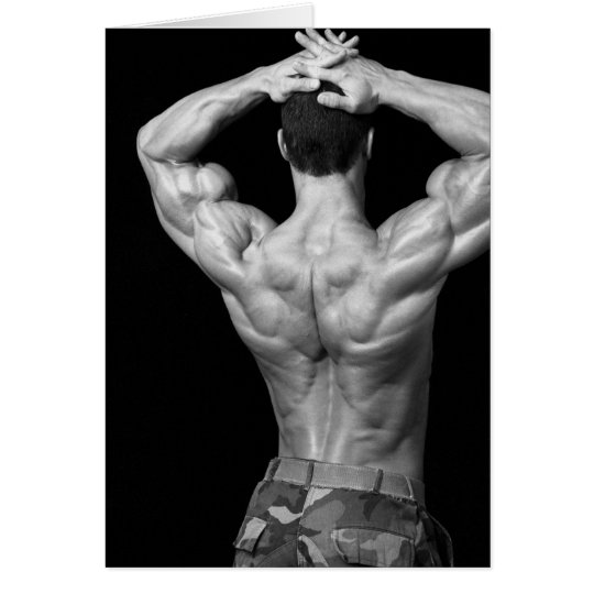 Bodybuilder Back Note Card