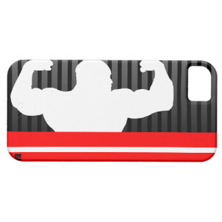Bodybuilder Black Red iPhone 5 Case-Mate Case iPhone 5 Cover