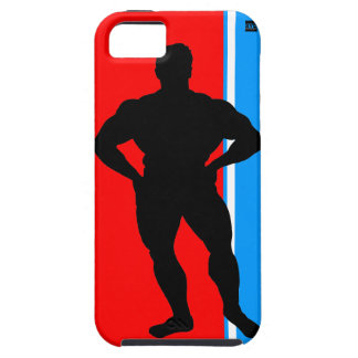 Bodybuilder Blue Red iPhone 5 Tough Case