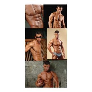 Bodybuilder de Justin Woltering y foto modelo de l Tarjeta Fotográfica Personalizada