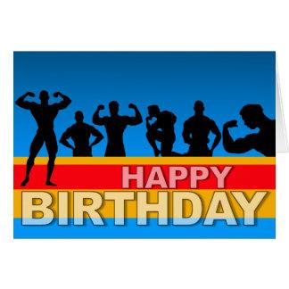 Bodybuilder de la tarjeta de cumpleaños