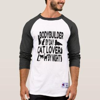Bodybuilder del amante del gato playeras