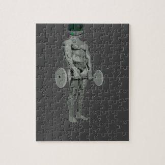 bodybuilder del astronauta puzzle