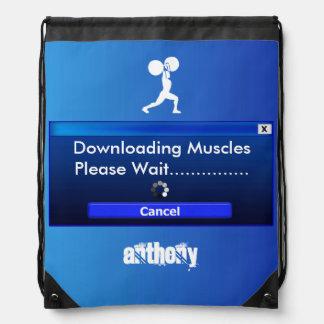 Bodybuilder del gimnasio personalizado mochila