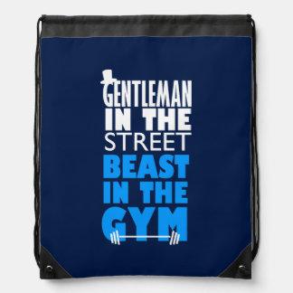 Bodybuilder del gimnasio personalizado mochilas