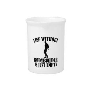 bodybuilder   designs drink pitchers