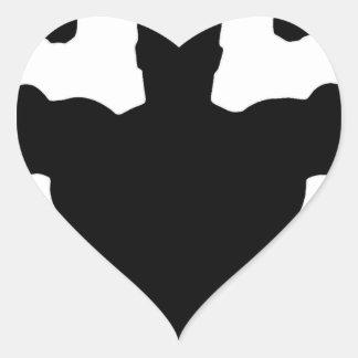bodybuilder flexing muscles heart sticker