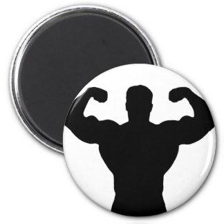 bodybuilder flexing muscles magnet