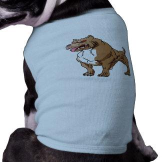 bodybuilder. fuerte del pitbull playera sin mangas para perro