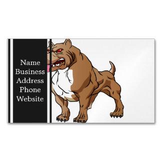 bodybuilder. fuerte del pitbull tarjetas de visita magnéticas (paquete de 25)