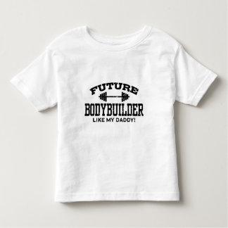 Bodybuilder futuro playera de bebé
