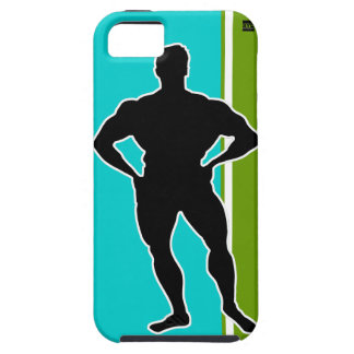 Bodybuilder Green Teal iPhone 5 Case-Mate Case