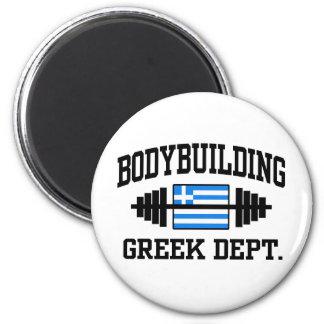 Bodybuilder griego imán redondo 5 cm