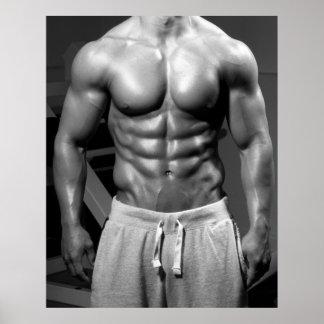 Bodybuilder Gym Wall Health Club Poster 25