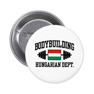Bodybuilder húngaro pin redondo de 2 pulgadas