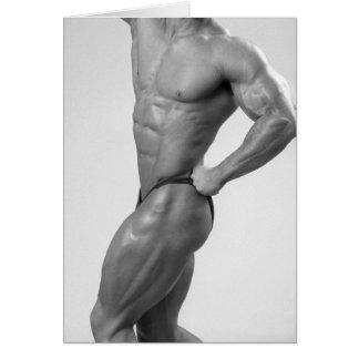 Bodybuilder In Posing Suit Notecard Cards