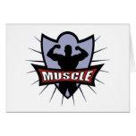 Bodybuilder Muscle Logo Card
