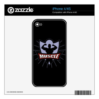 Bodybuilder Muscle Logo Decals For The iPhone 4S