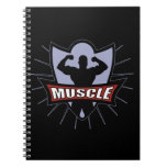 Bodybuilder Muscle Logo Journal