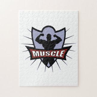 Bodybuilder Muscle Logo Puzzles