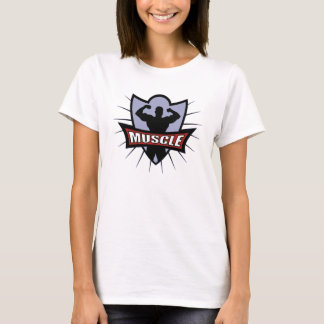 Bodybuilder Muscle Logo T-Shirt