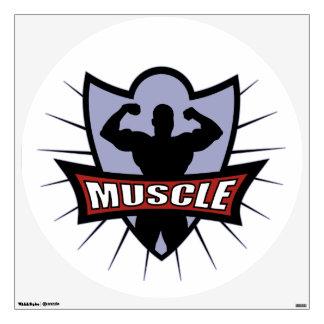 Bodybuilder Muscle Logo Wall Sticker