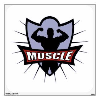 Bodybuilder Muscle Wall Sticker