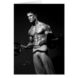 Bodybuilder Notecard #2 Greeting Cards