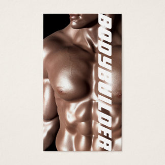 Bodybuilder Personal Trainer Exercise Gym Fitness Business Card